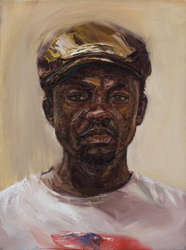 "<span class=""artist""><strong>Edward Ofusu</strong></span>, <span class=""title""><em>Self Portrait in Silence</em>, 2016</span>"