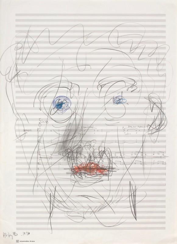 "<span class=""artist""><strong>Harrison Birtwistle</strong></span>, <span class=""title""><em>Self-Portrait</em>, 2017</span>"