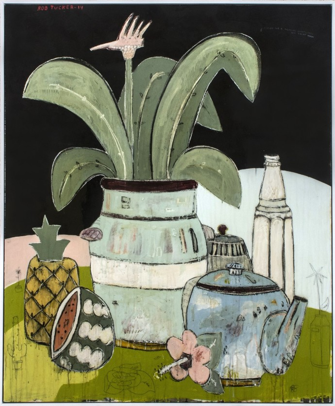 Rob Tucker, A Study For A Tropical Wheatgrass Tea Treat, 2014