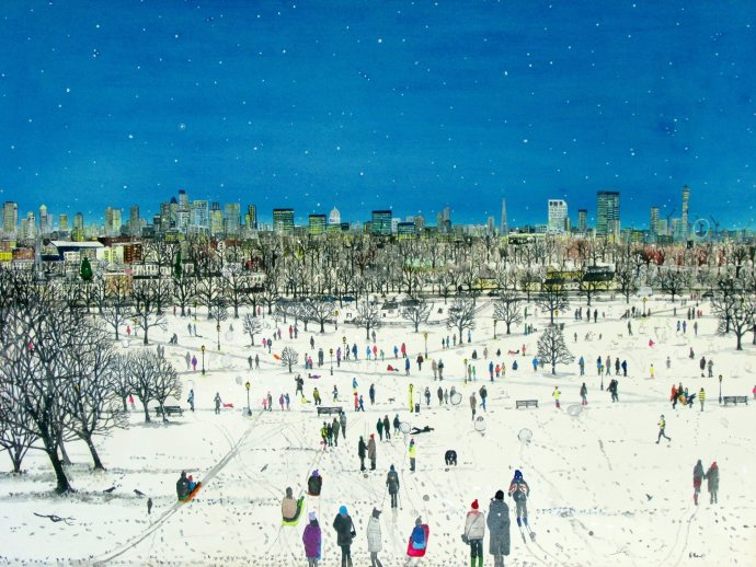 Emma Haworth, Primrose Hill Snow, 2013