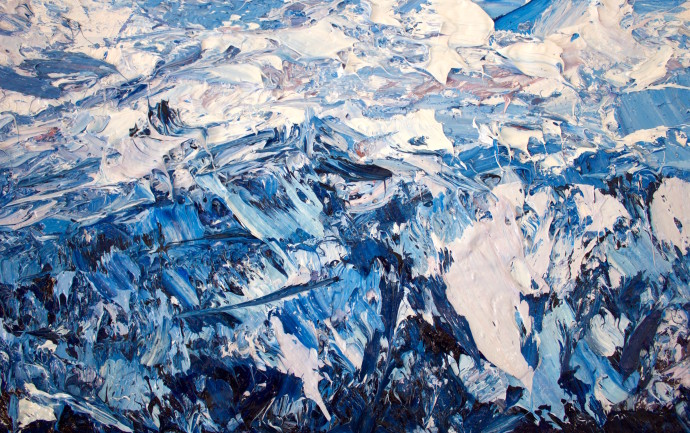 Holly Zandbergen, Richardson Mountains (detail 4), 2017