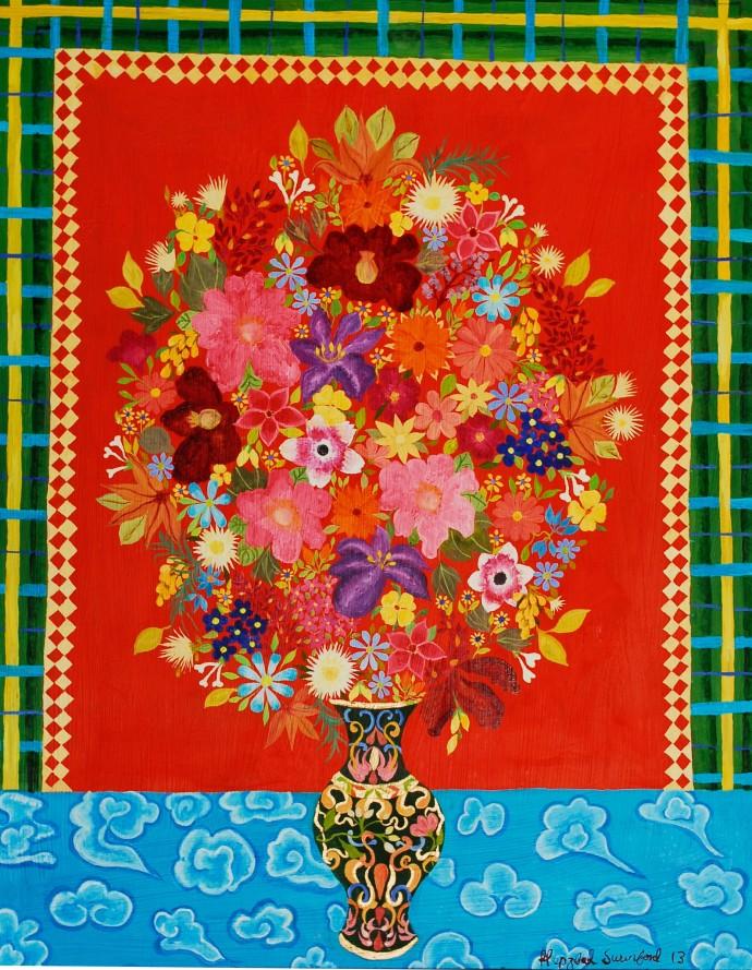 Hepzibah Swinford, Cloisonne Vase, 2013
