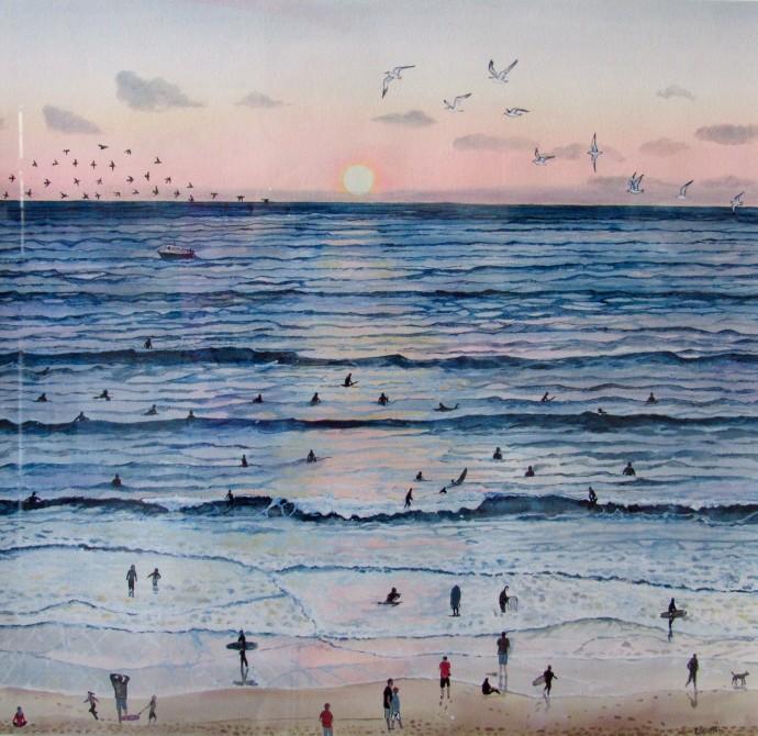 Emma Haworth, Sunset Surfers, 2016