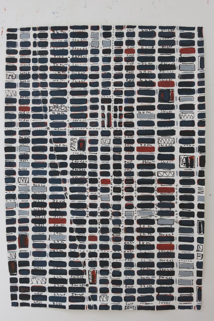 Barbara Macfarlane, Blue Black Midtown, 2014