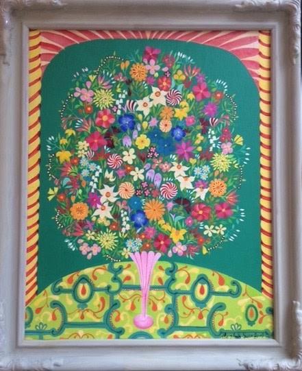 Hepzibah Swinford, Green Flowers, 2014