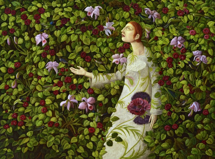 Helen Flockhart, Hummingbirds and Orchids, 2015