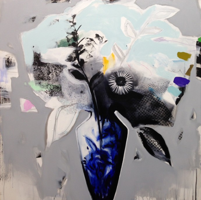 Emily Filler, Blue and White Vase, 2016