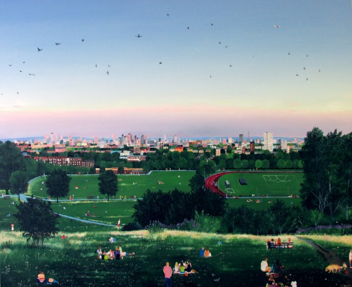 Emma Haworth, Hampstead Heath Summer Evening, 2013