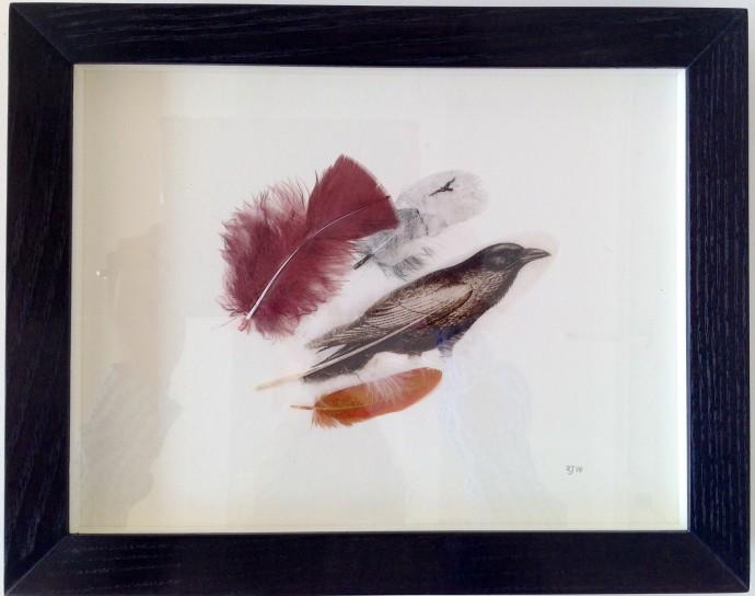 Rebecca Jewell, Raven Feathers, 2014