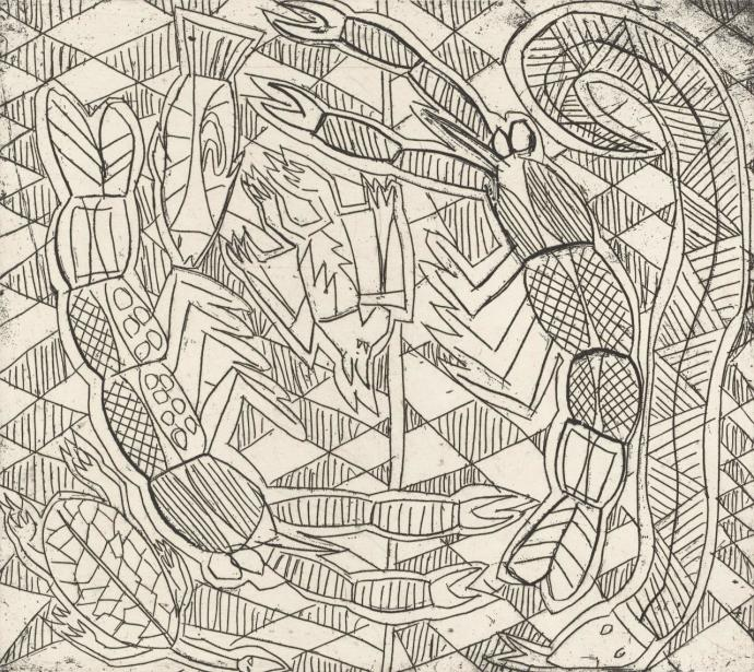 Eddie Green, Jarrampa, Bat, Snake and Turtle, 1995