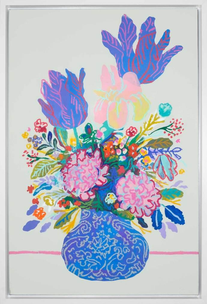 John Holcomb, Floral on Winter White, 2017