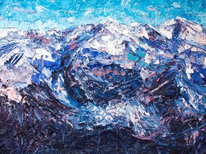 Holly Zandbergen, Fox Glacier from Above, 2017