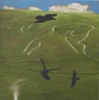 David Inshaw, Cerne Abbas Giant III, 2011