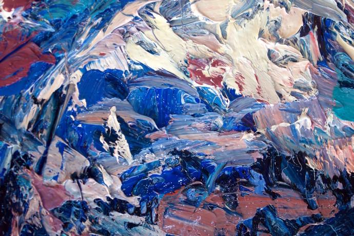 Holly Zandbergen, Fox Glacier from Above (Detail 4), 2017