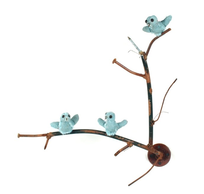 Ross Bonfanti, Perch-Blue Birds, 2015