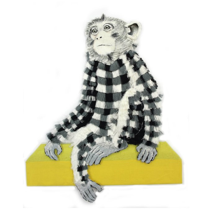Karen Nicol, Small Gingham Monkey, 2013