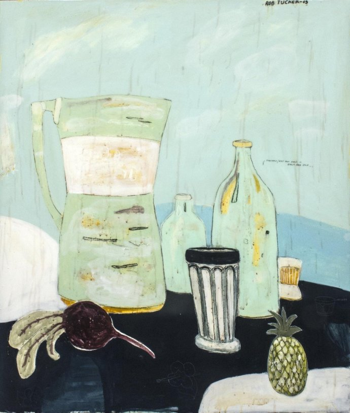 Rob Tucker, pineapple, beetroot juice is really good style, 2013