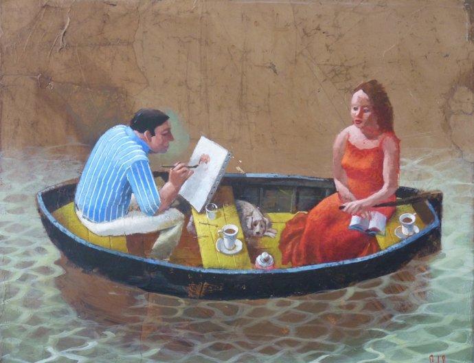 Sylvain Lefebvre, Carlos Painting Penelope, 2013
