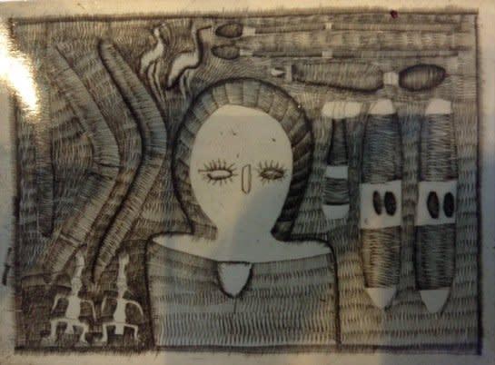 Ross Karadada, Wandjina Figure, c.1996
