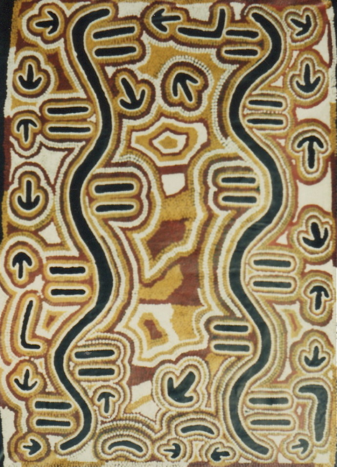 Biddy Nungurrayi Long, Water (Ngapa) Dreaming, 1991