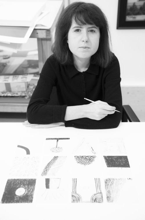 Rose Blake, Rose Blake in the studio, 2017