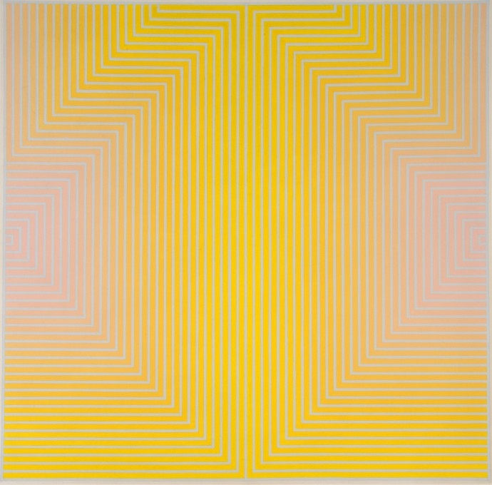 David Whitaker, Red And Yellow On Blue, 1960