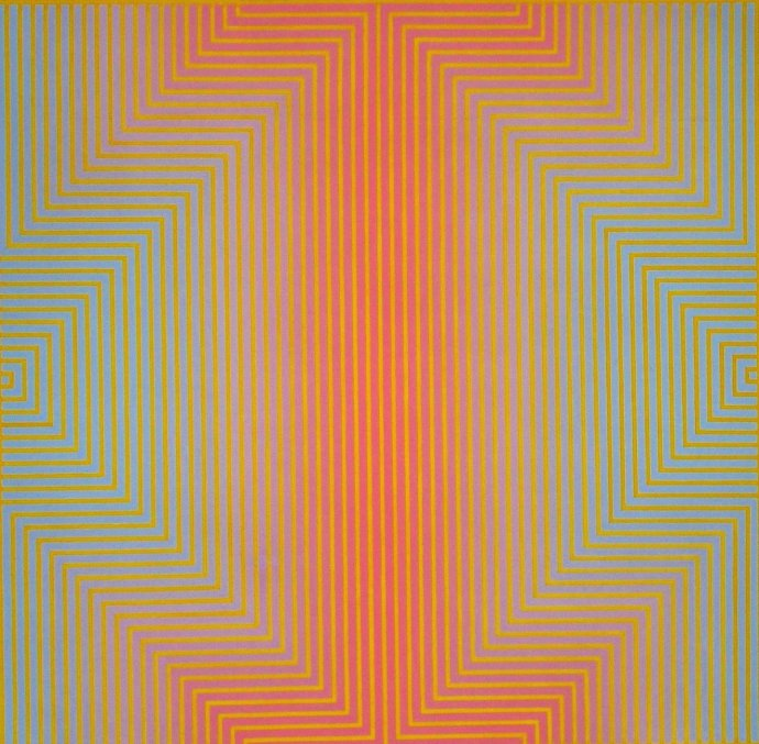 David Whitaker, Red and Blue on Yellow, 1960s