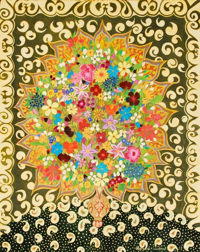 Hepzibah Swinford, Flowers and Lace, 2014
