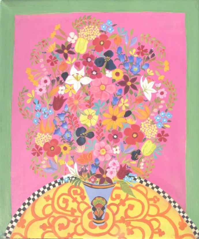 Hepzibah Swinford, Flowers On Pink