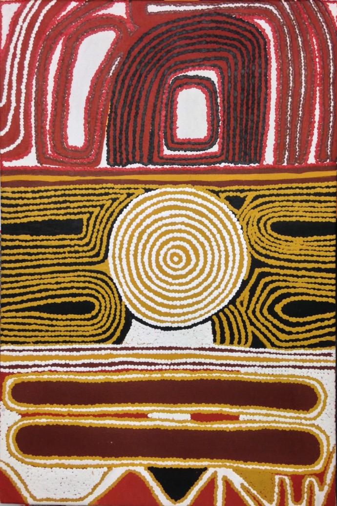 Pauline Sunfly, Warlayirti, 1996