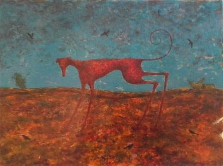 Alasdair Wallace, Red Dog (framed), 1999