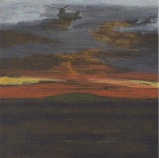 David Inshaw, Sunset Etchilhampton, 2012-14