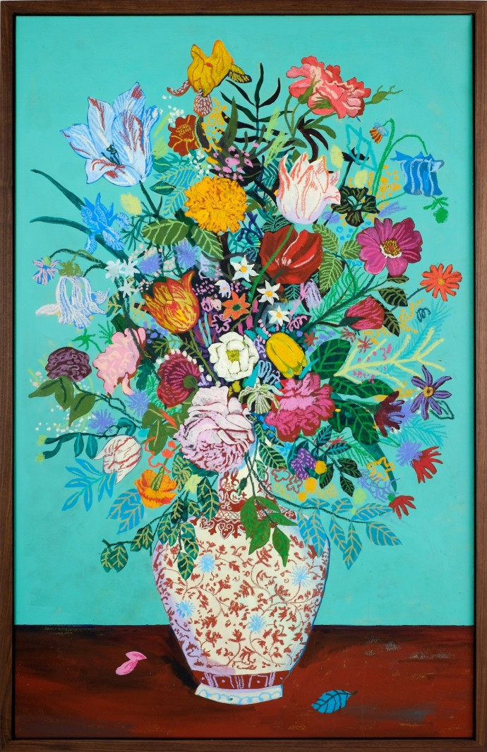 Andy Dixon, Teal Bouquet, 2014