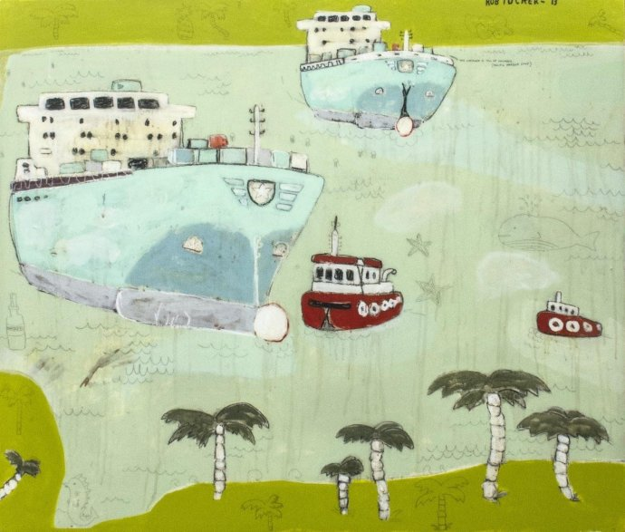 Rob Tucker, this container is full of cucumber (pacific harbour style), 2013