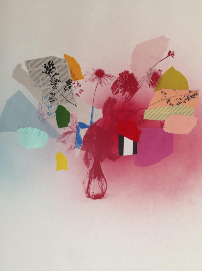 Emily Filler, Paper Bouquet (In Rainbows) II, 2017