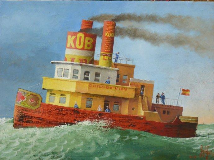 "Sylvain Lefebvre, The ""Cob"" Tug Boat, 2013"
