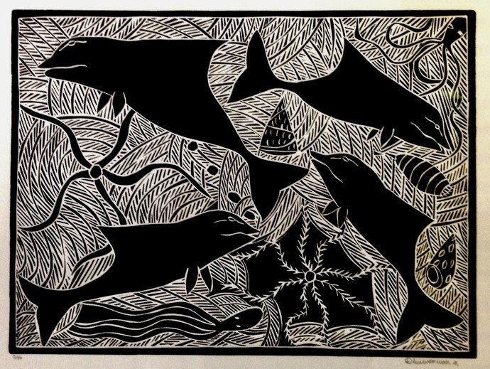 Dhuwarrwarr Marika, Mutjalanydjal - The Dolphin and Small Blue Starfish, 1997