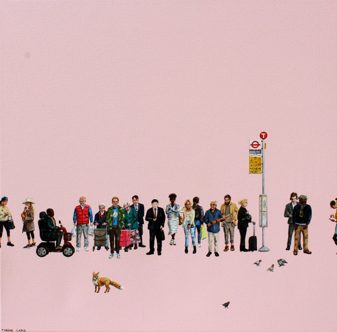 Tyrone Layne, The Bus Stop II, 2018