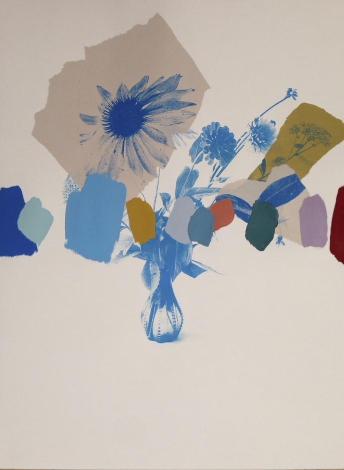 Emily Filler, Paper Bouquet (Blues), 2017