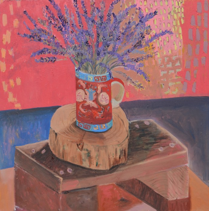 Anna Valdez, Lavender in Chinese Tea Cup, 2014