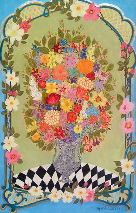 Hepzibah Swinford, Flowers in a Silver Vase, 2013