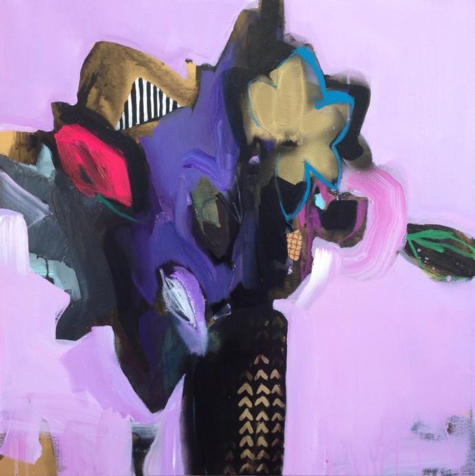 Emily Filler, Vase Of Flowers (Magenta), 2014