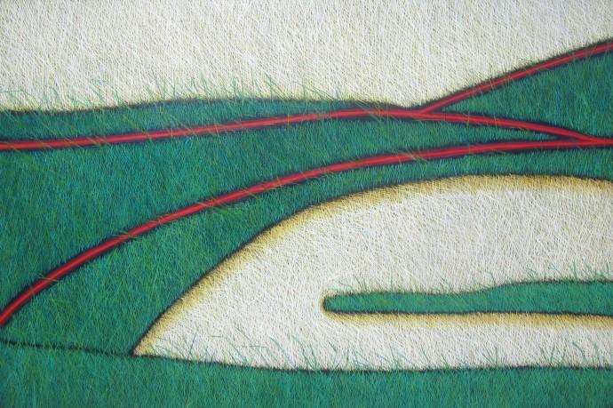 Yvonne Mills-Stanley, Grass Tracks, 2014