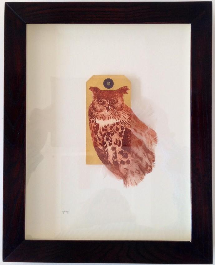Rebecca Jewell, Gilded Long Eared Owl, 2014