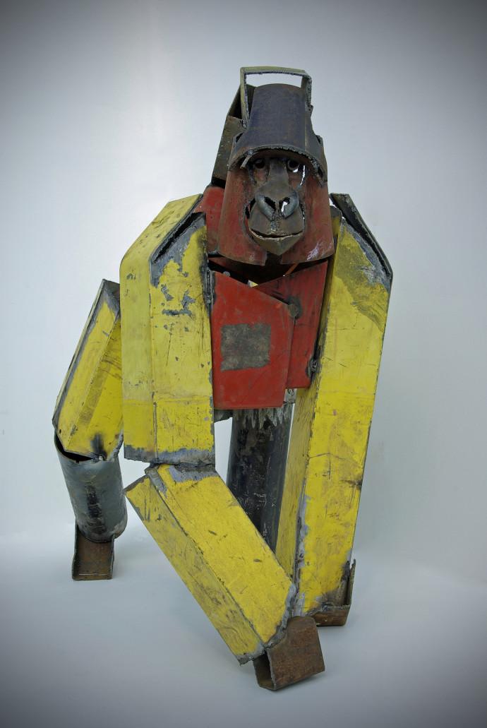 Iain Nutting, Standing Gorilla (Yellow), 2011