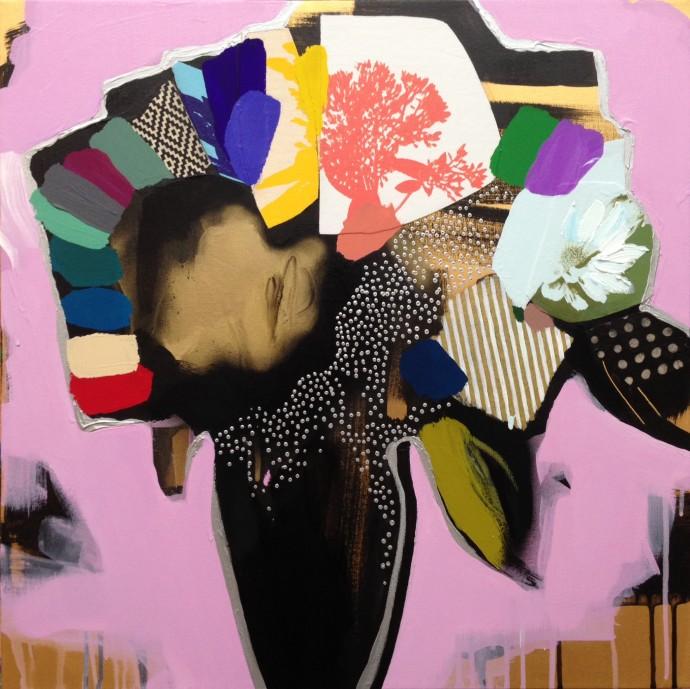 Emily Filler, Vase of Flowers (pale pink), 2016
