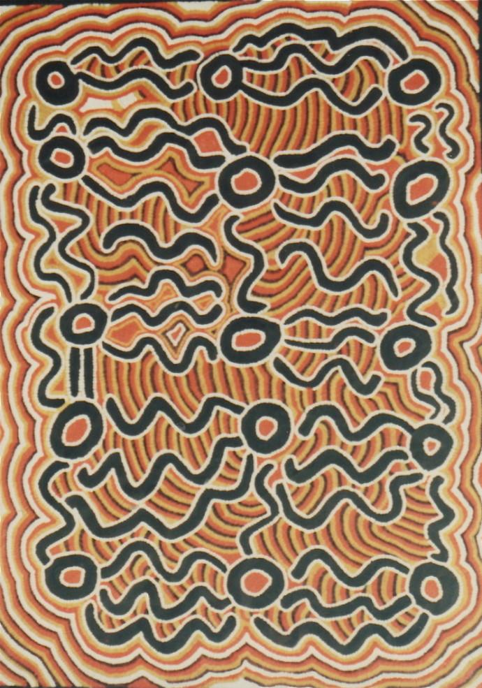 Biddy Napaljarri Rockman, Snake (Warna) Dreaming , 1991