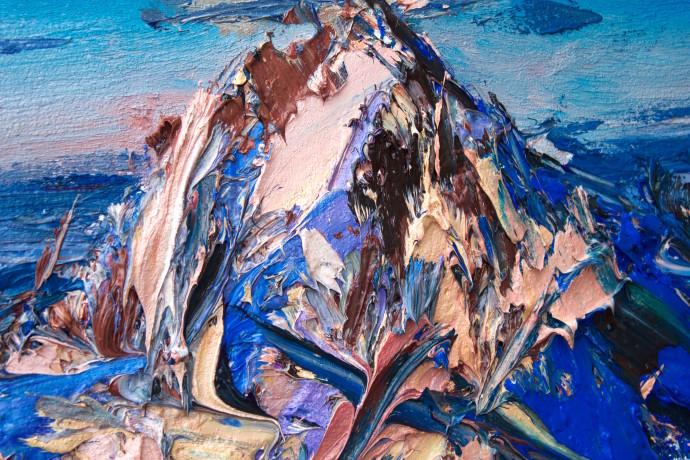 Holly Zandbergen, Aoraki: Mt Cook from the North (Detail 3), 2017