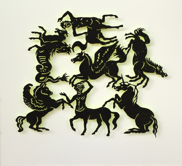 Susan Light, Mythical Horses (yellow)