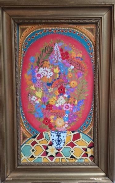 Hepzibah Swinford, Flowers with Mosaics, 2012